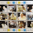 UDMURTIA - CIRCA 2003: Collection stamps printed in Udmurtia shows Pope John Paul II, circa 2003 - Stok fotoğraf
