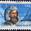 UNITED STATES OF AMERICA - CIRCA 1986: A stamp printed in USA shows Elisha Kent Kane, circa 1986 - Stok fotoğraf