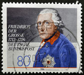 GERMANY - CIRCA 1986: A stamp printed in Germany showing Friedrich der Gross, circa 1986 — Stock Photo