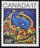Kanada - yaklaşık 1981: Kanada'da basılmış pul gösterir acadia, 1981 — Stok fotoğraf