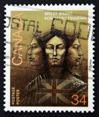 CANADA - CIRCA 1986: stamp printed in Canada shows Molly Brant, Iroquois Leader and Loyalist, circa 1986 — Stock Photo