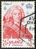 SPAIN - CIRCA 1979: A stamp printed in Spain shows King Philip V, circa 1979 — Stock Photo