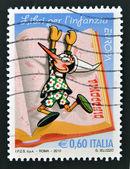 Włochy - ok. 2010: znaczek wydrukowany we Włoszech pokazuje Pinokio, około 2010 — Zdjęcie stockowe