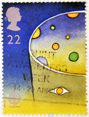 UNITED KINGDOM - CIRCA 1991: A stamp printed in Great Britain shows a symbolic representation of the cosmos, circa 1991 — Stockfoto