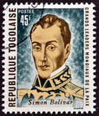 REPUBLIC OF TOGO - CIRCA 1969: A stamp printed in Togo dedicated to great world leaders of peace, shows Simon Bolivar, circa 1969 — Stock Photo
