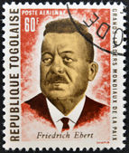 REPUBLIC OF TOGO - CIRCA 1969: A stamp printed in Togo dedicated to great world leaders of peace, shows Friedrich Ebert, circa 1969 — Stock Photo