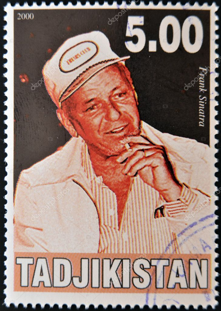 TAJIKISTAN - CIRCA 2000: A stamp printed in Tajikistan shows Frank Sinatra, circa 2000 — Stock Photo #11755854
