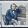 GERMANY - CIRCA 1983: a stamp printed in  Germany shows Johannes Brahms, Composer, circa 1983 - Stockfoto