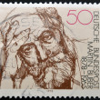 GERMANY - CIRCA 1978: stamp printed in Germany shows portrait Martin Buber, circa 1978. - Stock Photo