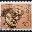 GERMANY - CIRCA 1978: A stamp printed in Germany shows Nobel Prize winner for literature Hermann Hesse, circa 1978 — 图库照片