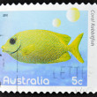 Stock Photo: AUSTRALI- CIRC2010: stamp printed in Australishows image of Coral rabbitfish coral faith, inventive, circ2010