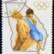 CUBA - CIRCA 1995: A stamp printed in Cuba dedicated to Olympic Games in Atlanta 1996, shows fighting, circa 1995 — Stock Photo