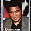 DAGESTAN - CIRCA 2001: A stamp printed in Republic of Dagestan shows Muhammad Ali, circa 2001 — Stock Photo