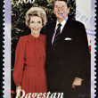 DAGESTAN - CIRC2001: stamp printed in Republic of Dagestshows Ronald and Nancy Reag, circ2001 — Stockfoto #11844393