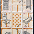 SPAIN - CIRC1991: Collection stamps dedicated to Spanish handicrafts, furniture, circ1991 — Stock Photo #11844417