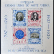 GUATEMALA - CIRCA 1939: four stamps to honor the United States of America on the anniversary of its Constitution, circa 1939 — Stock Photo