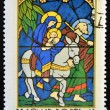 HUNGARY - CIRCA 1972: A stamp printed in Hungary shows Stained-glass Window, Flight into Egypt, circa 1972 — Stock Photo #11844444