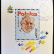 POLAND - CIRCA 1991: A stamp printed in Poland shows Pope John Paul, circa 1991 — Stock Photo