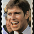 SAINT LUCI- CIRC1986: stamp printed in Saint Lucishows portrait of Prince Andrew,royal wedding commemorative, circ1986 — Stockfoto #11844632