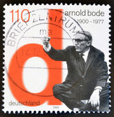 GERMANY- CIRCA 2000: stamp printed in Germany, shows Arnold Bode, Artist, circa 2000. — Stok fotoğraf