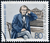 GERMANY - CIRCA 1983: a stamp printed in Germany shows Johannes Brahms, Composer, circa 1983 — Stock Photo