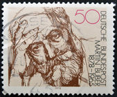 GERMANY - CIRCA 1978: stamp printed in Germany shows portrait Martin Buber, circa 1978. — Stock Photo
