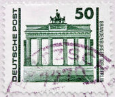 GERMANY - CIRCA 1990: A stamp printed in Germany, shows the Brandenburg Gate, circa 1990 — Stock Photo
