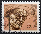 GERMANY - CIRCA 1978: A stamp printed in Germany shows Nobel Prize winner for literature Hermann Hesse, circa 1978 — Stok fotoğraf