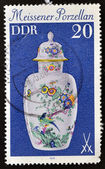 GERMANY - CIRCA 1979: A stamp printed in the Germany shows a China vase Meissner, circa 1979 — Stock Photo