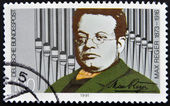 GERMANY - CIRCA 1991: a stamp printed in Germany shows Max Reger, Composer, circa 1991 — Stock Photo
