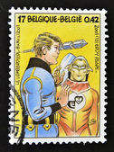 BELGIUM - CIRCA 2001: A stamp printed in Belgium shows the adventures of Luc Orient work of Eddy Paape, circa 2001 — Stock Photo