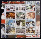 BURYATIA - CIRCA 2003: Collection stamps printed in Republic of Buryatia shows Pope John Paul II, circa 2003 — Stock Photo