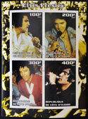 IVORY COAST - CIRCA 2003: collection stamps shows Elvis Presley, circa 2003 — 图库照片
