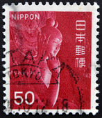 JAPAN - CIRCA 1967: A stamp printed in Japan, shows Nyoirin Kannon in half-lotus position in Chuguji Temple, Nara, circa 1967 — 图库照片