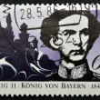 GERMANY - CIRCA 1986: A stamp printed in Germany shows Ludwig II of Bavaria, circa 1986 - Stock Photo