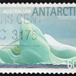 Stock Photo: AUSTRALI- CIRC2011: stamp printed in Australishows block of ice antarctic Territory, circ2011