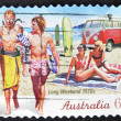 AUSTRALIA - CIRCA 2010: A stamp printed in australia shows long weekend 1970s, circa 2010 — Foto Stock