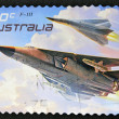 "AUSTRALIA - CIRCA 2011: A stamp printed in australia shows The General Dynamics F-111 ""Aardvark"", circa 2011 — Stock Photo"