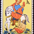 Royalty-Free Stock Photo: CZECHOSLOVAKIA - CIRCA 1972: A stamp printed in Czechoslovakia shows St. Martin on horseback, circa 1972