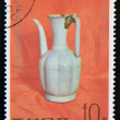 NORTH KOREA - CIRCA 1977: A stamp printed in DPR Korea shows Chinese porcelain jar, circa 1977 — Stock Photo