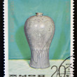 NORTH KOREA - CIRCA 1977: A stamp printed in DPR Korea shows Chinese porcelain vase, circa 1977 — Stock Photo