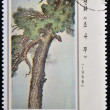 NORTK KOREA - CIRCA 1975: A stamp printed in DPR KOREA shows Chinese Painting, circa 1975. — Stock Photo