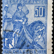 Stock Photo: FRANCE - CIRC1929: stamp printed in France shows liberation of Orleans by Joof Arc, circ1929