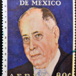 Stock Photo: MEXICO - CIRC1973: stamp printed in Mexico shows Joaquin Gallo, astronomer founder of this science in early twentieth century, circ1973