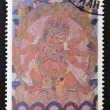 MONGOLIA - CIRCA 1990: A stamp printed in Mongolia shows Dorje Dags Dan, Buddhist deity, circa 1990 — Stock Photo