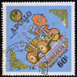 MONGOLIA - CIRCA 1973: A stamp printed in Mongolia, shows Apollo 16, circa 1973 — Stock Photo