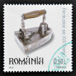 ROMANIA - CIRCA 2000: A stamp printed in Romania shows an old iron, circa 2000 — Stock Photo