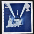 UNITED KINGDOM - CIRCA 1995: A stamp printed in Great Britain shows St Paul's Cathedral and Searchlights, circa 1995 — Stock Photo