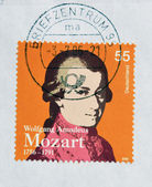 GERMANY - CIRCA 2006: a stamp printed in Germany shows image of Wolfgang Amadeus Mozart, circa 2006 — 图库照片