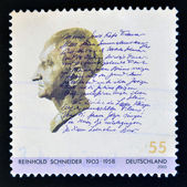 GERMANY - CIRCA 2003: A stamp printed in Germany shows Reinhold Schneider, circa 2003 — Stockfoto